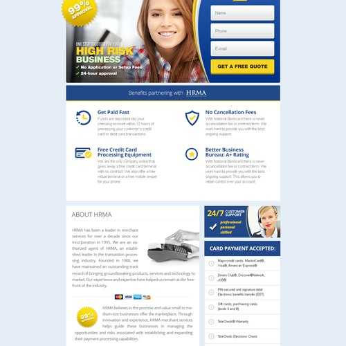 Merchant Account Website
