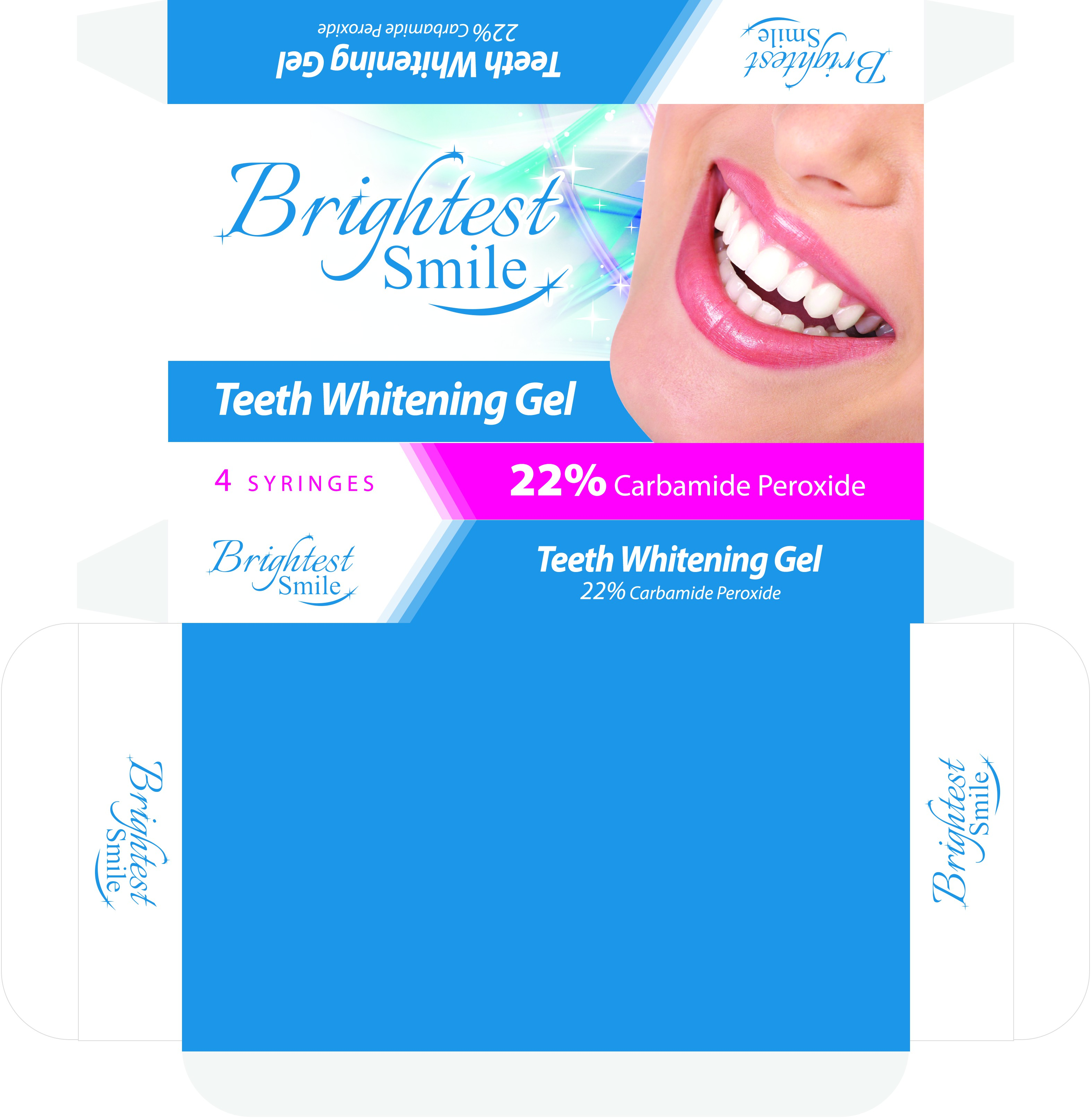 Develop a modern and expressive package for professional dental whitening agent