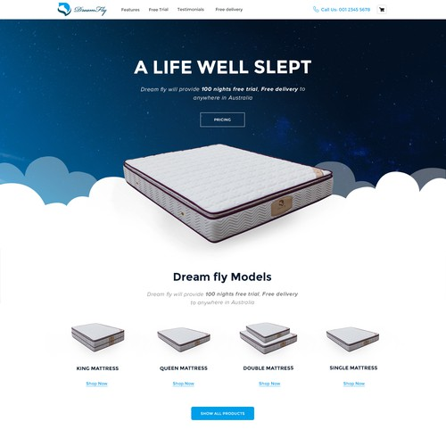 Mattress Website Design