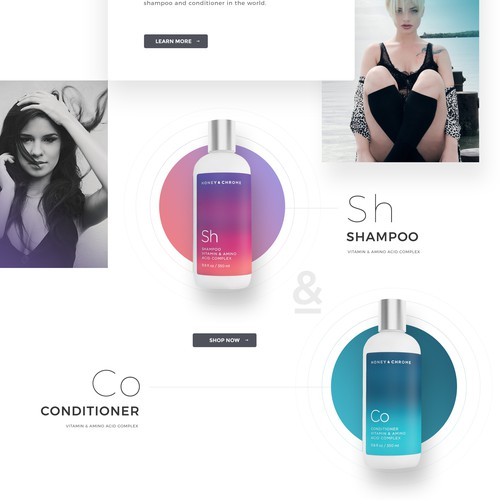 Website design for cosmetic brand
