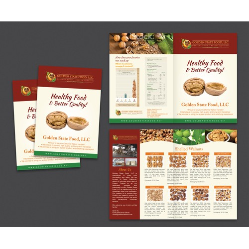 Golden State Food, LLC needs a new brochure design