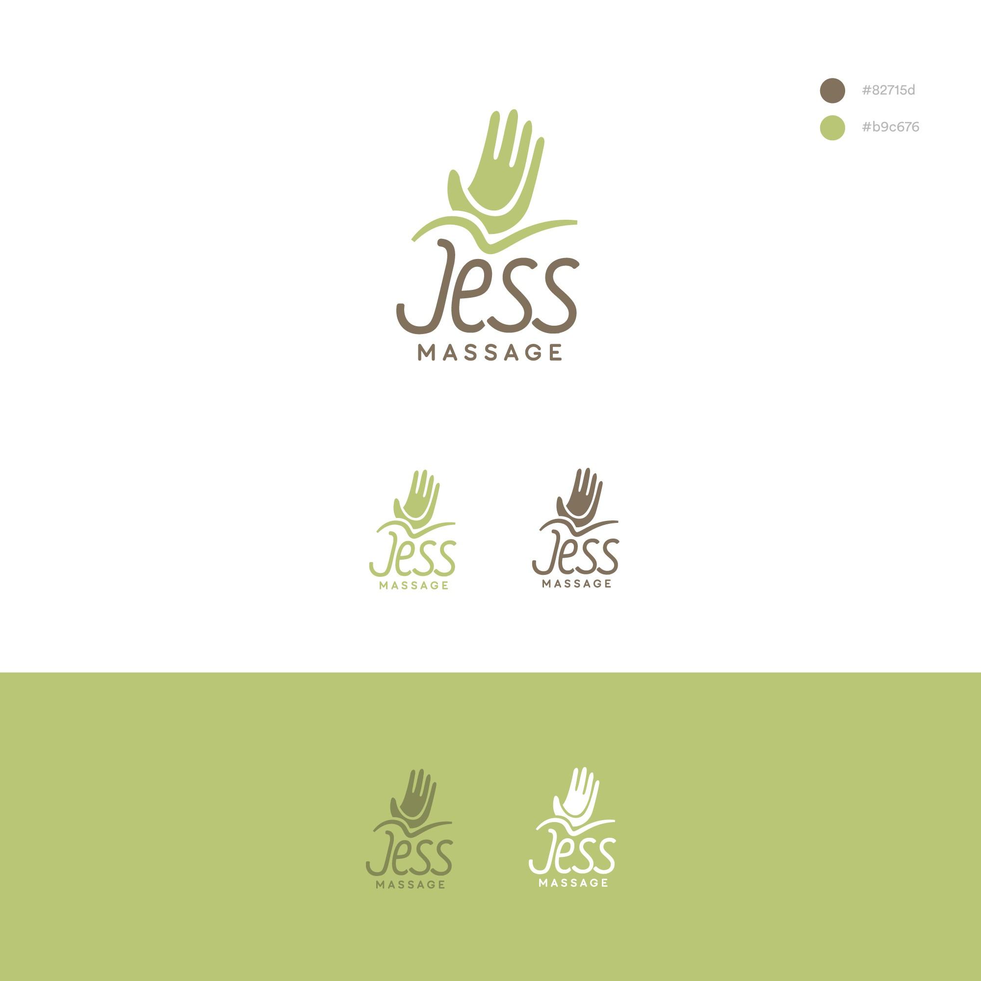 Een sprankelend en natuurlijk logo voor JessMassage, (sport)massagepraktijk
