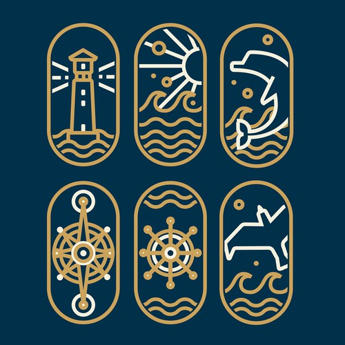 Icon set for a yacht club