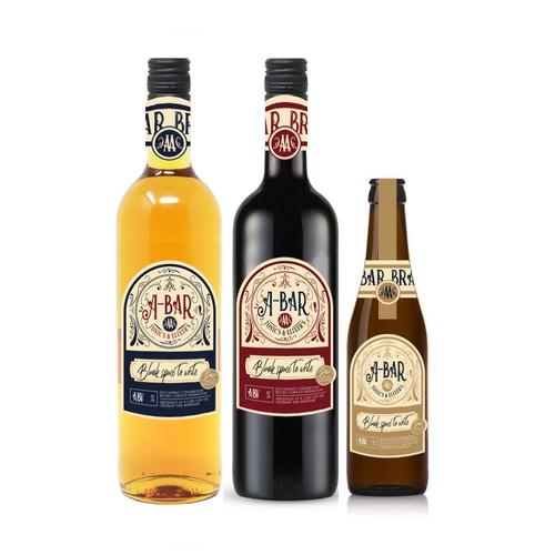 Vintage Beer, Wine, Tonic Packaging