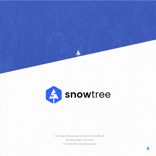 Logo for software development co. Snowtree