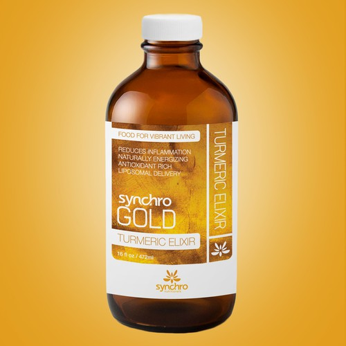 Label Design For Synchro Gold
