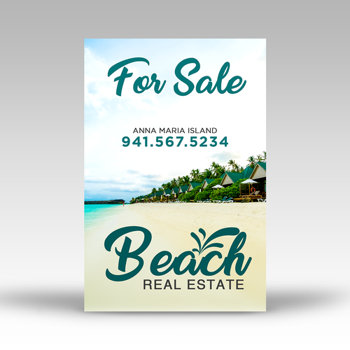 Beach Real Estate signage