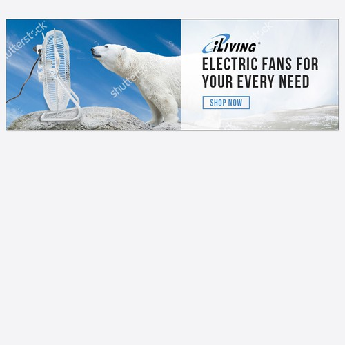 Web banner Ad concept for Electric fan