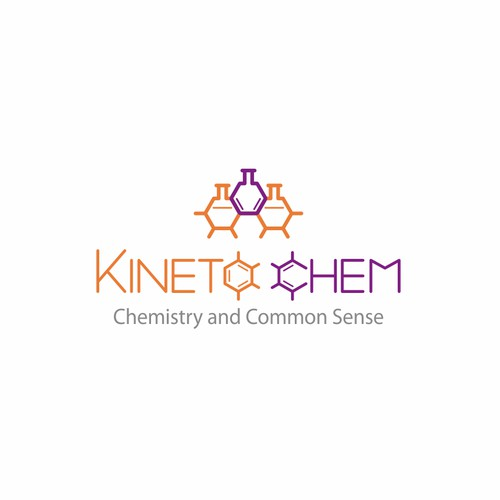 kinetic, scientific logo for an innovative chemistry company.