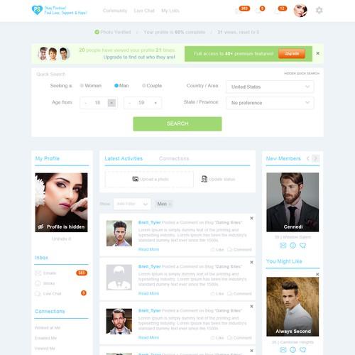 Website design for positivesingles