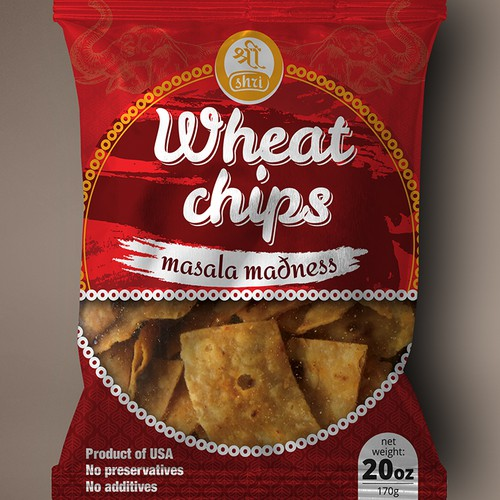 "Packaging design for ""Wheat chips"""
