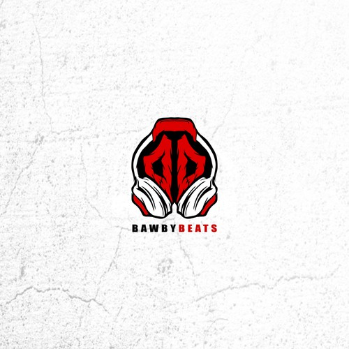 handrawn concept for bawbybeats logo