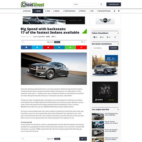 Major US News Site: Article Template Redesign