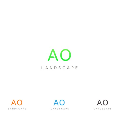 Font Logo for AO Landscape
