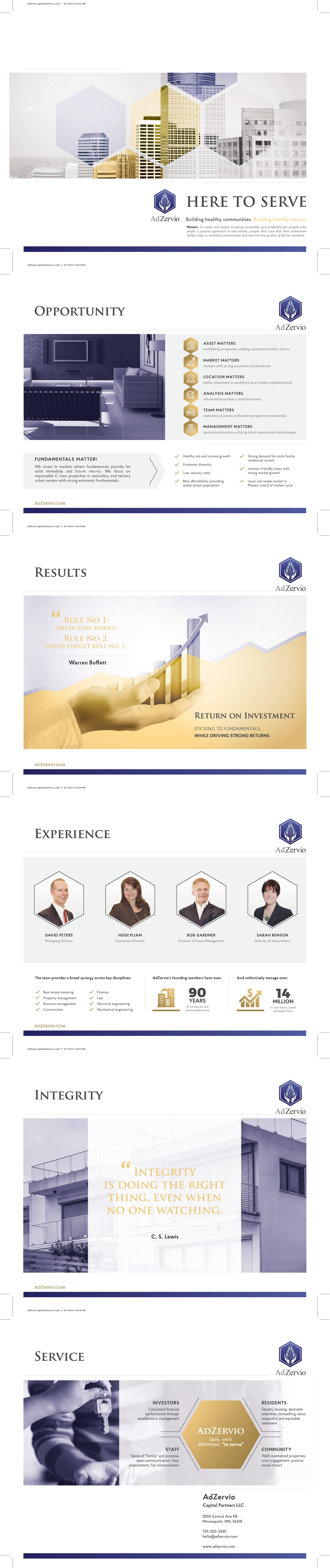 Design brochure - (two other projects will follow for total budget $1000)