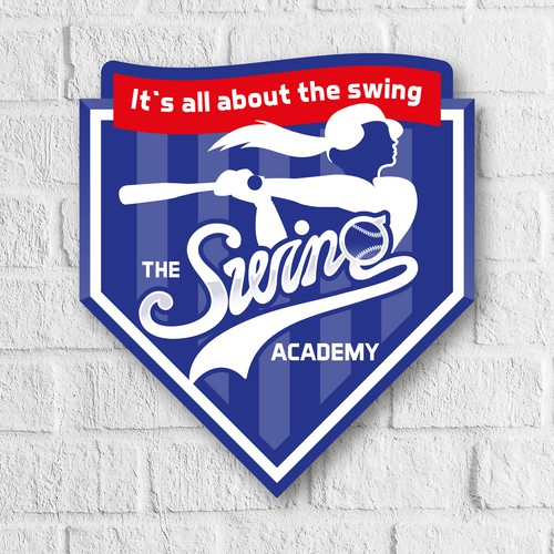 Logo for baseball hitting academy