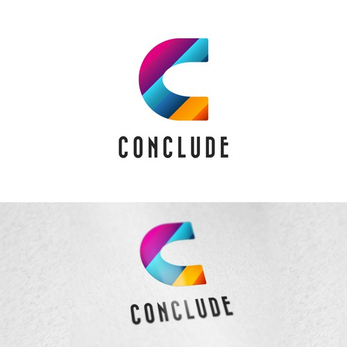 Colorfull typography combination-mark Logo