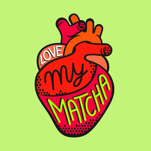 Logo for Love My Matcha green tea.
