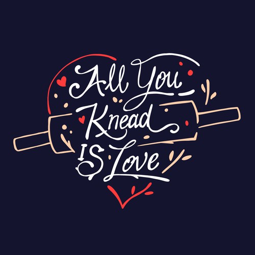 Lettering design used for Aprons