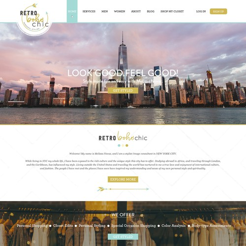 RetroBohoChic ECommerce Website