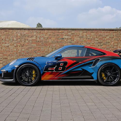 porsche-911 Race Car Wrap Design