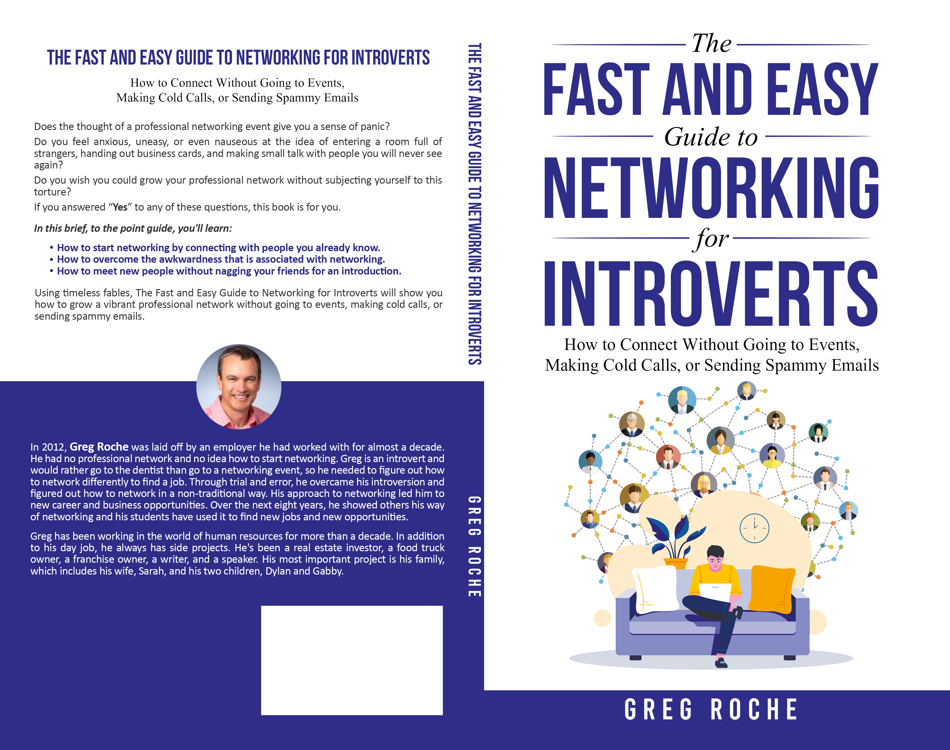 Create cover for book about professional networking for introverts