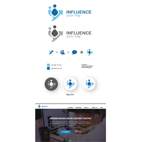 Influence your way logo design (draft 2)