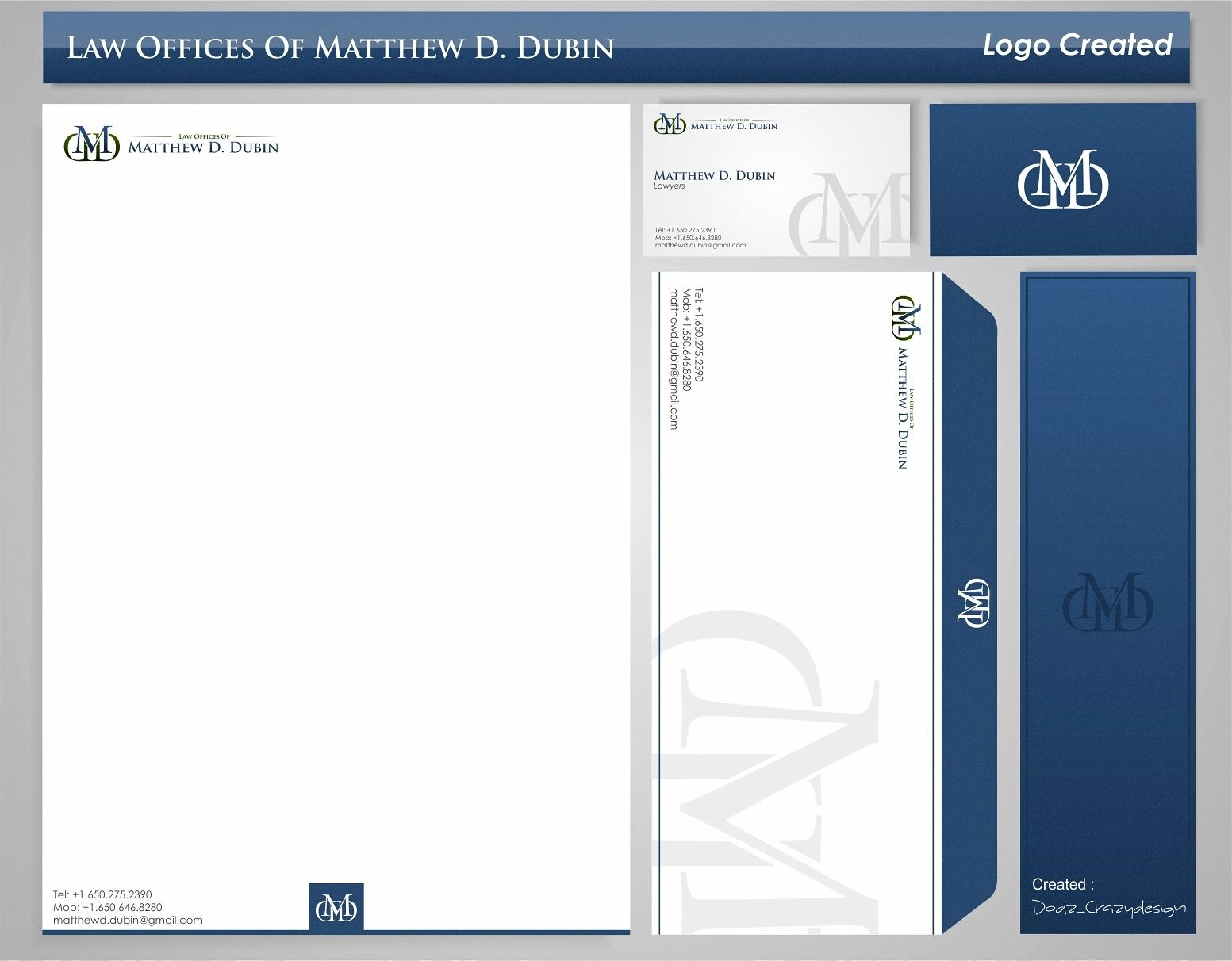 Create the next logo for Law Offices of Matthew D. Dubin