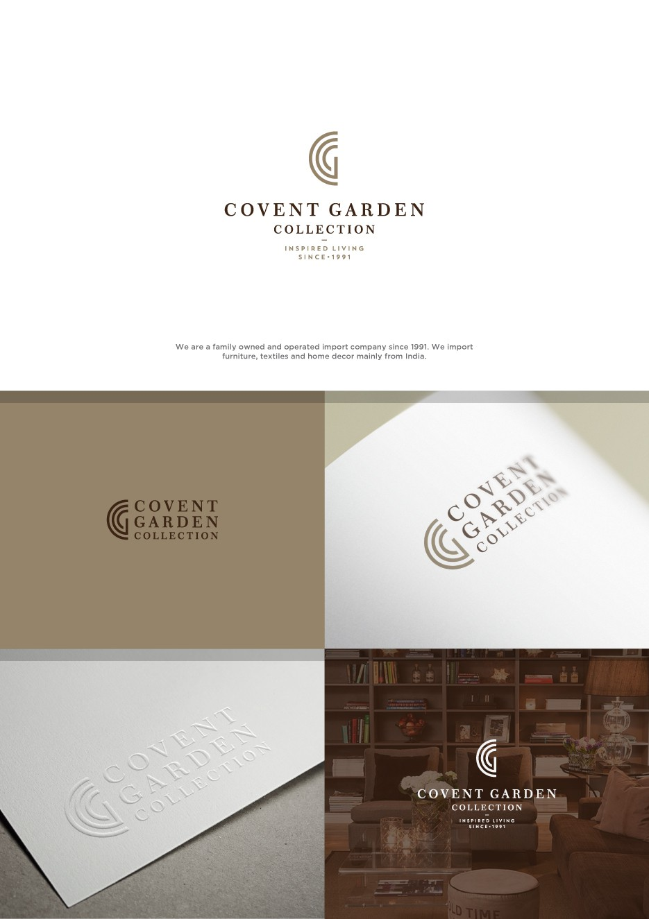 New stunning logo and business card for Covent Garden Collection AS