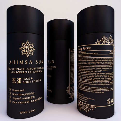 Packaging Design for Ahimsa Sun Bottle