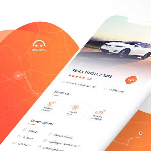 car-sharing mobile app