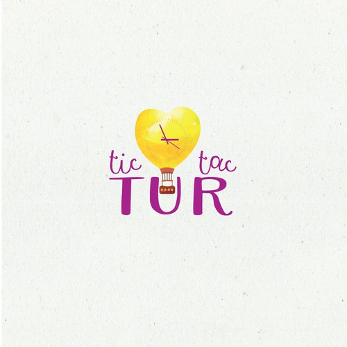 Lovely logo for Tictactur a hand-made brand to make your trip easy