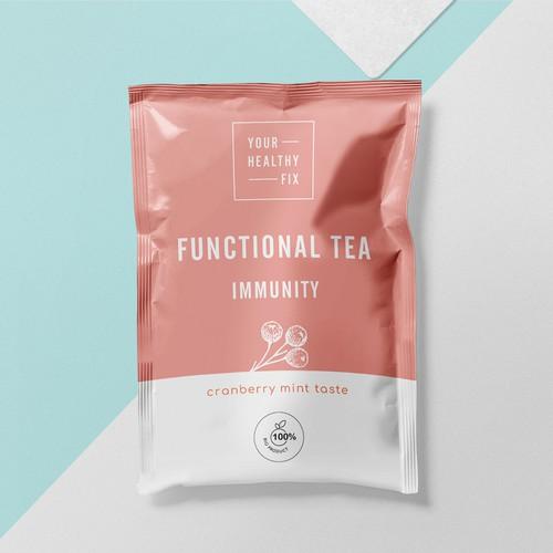 Tea Packaging Pouch Design