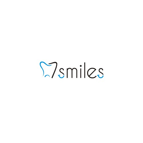 simple logo for 7 smiles