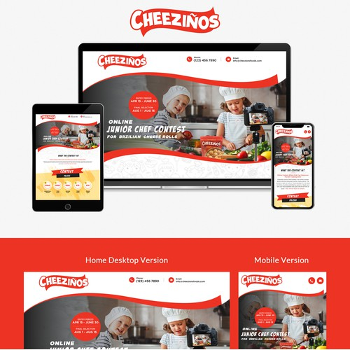 Modern landing page for Chef contest