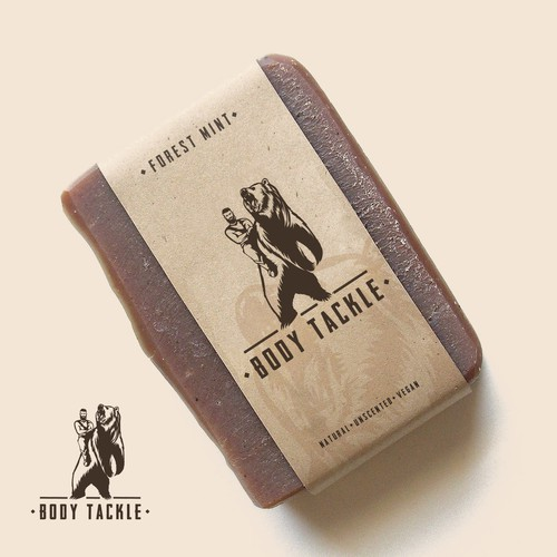Natural soap for men - Logo concept