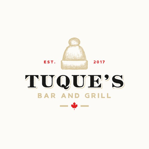 Tuque's Bar and Grill logo design