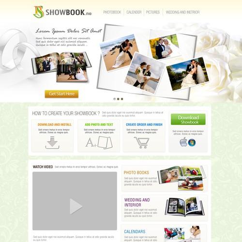Create the next website design for Showbook.no