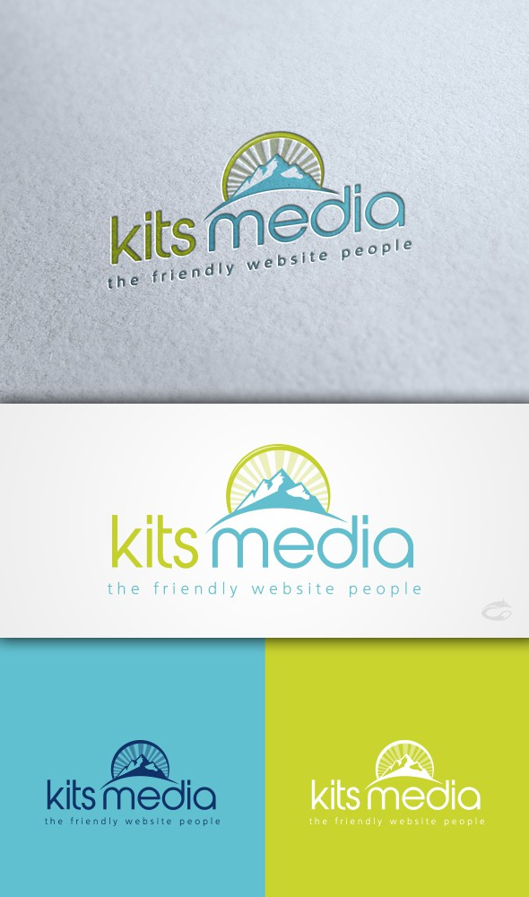 Simple colorful logo for website company!