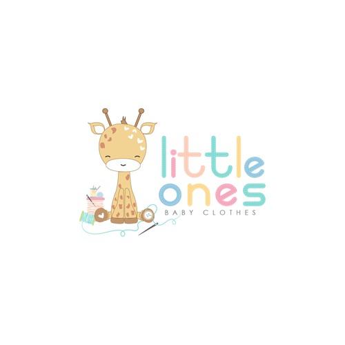 Baby clothes logo concept