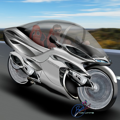2 seater Cabin Motor-bike concept design