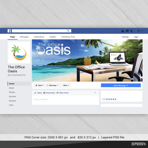 "Facebook Cover for ""The Office Oasis"""