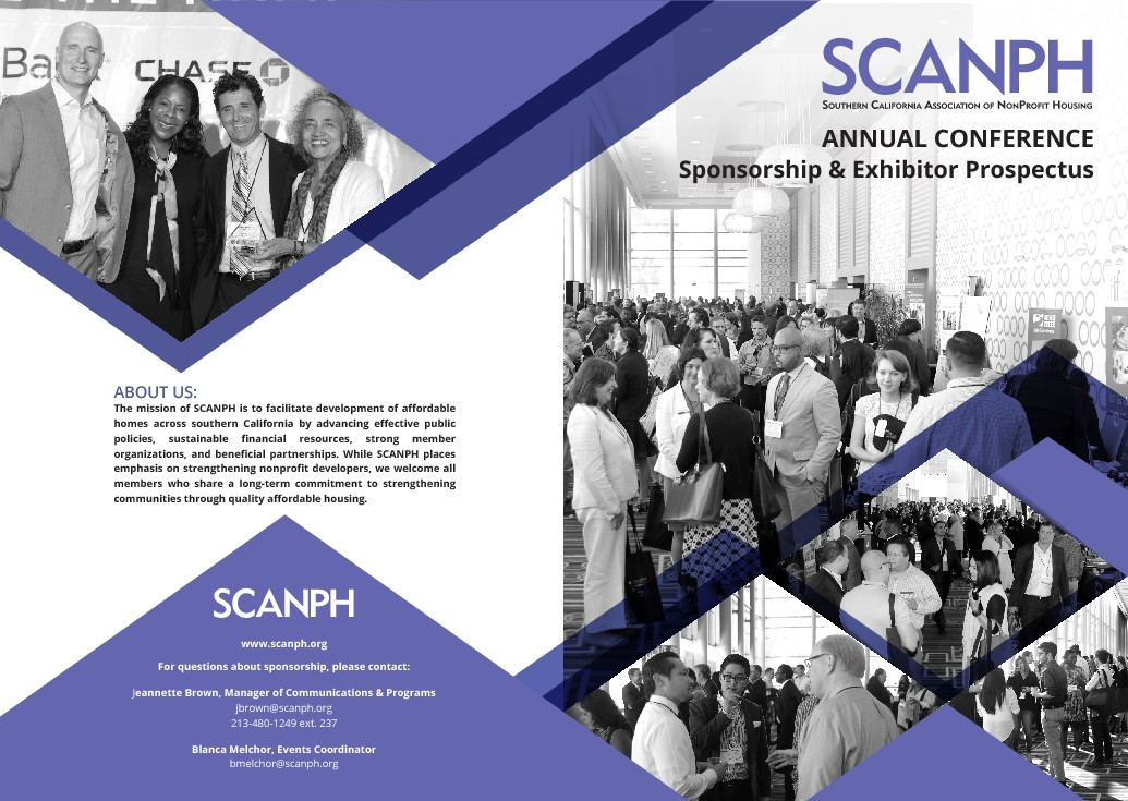 Design a modern and professional brochure for a nonprofit's biggest event of the year