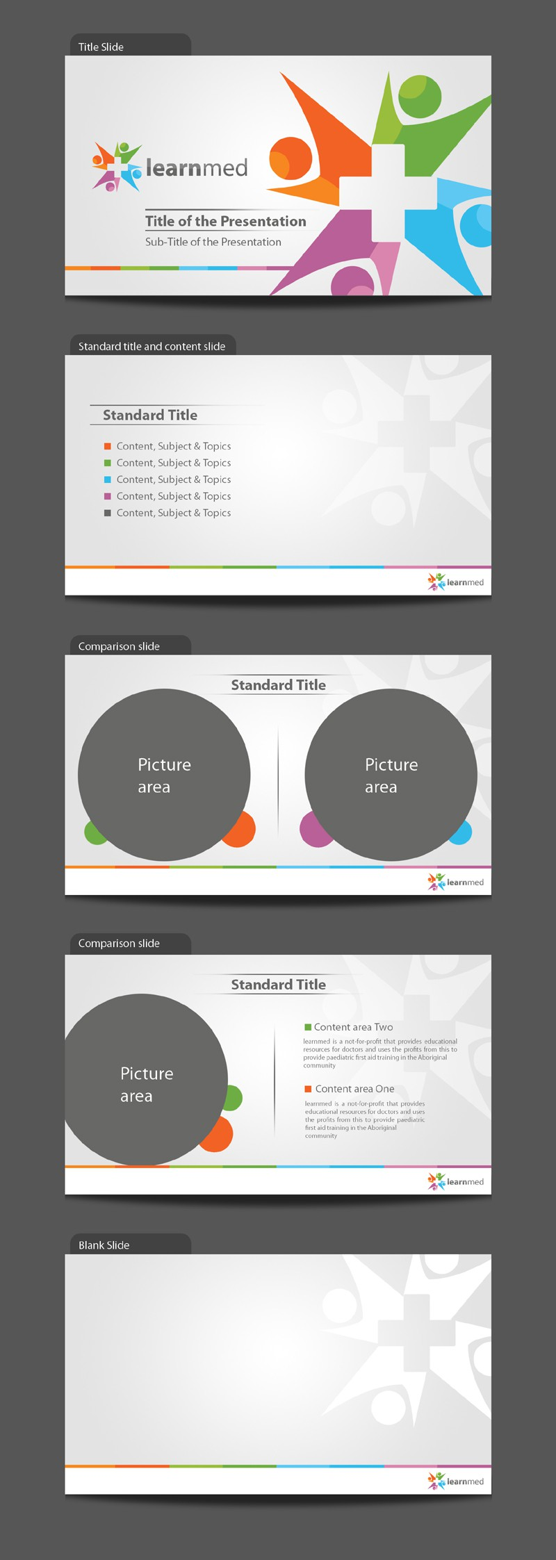 design a PowerPoint and KeyNote Template for learnmed