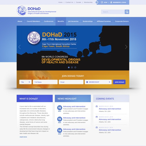 DOHaD Home Page Design