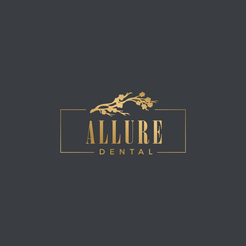 Luxurious dentist office logo.