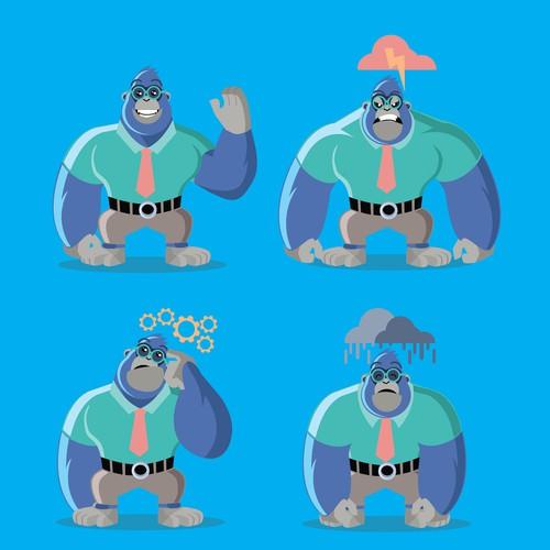 mascot manfred gorilla