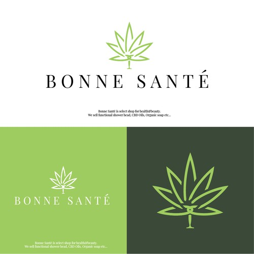 Logo concept for Bonne Sante CBD beaty shop
