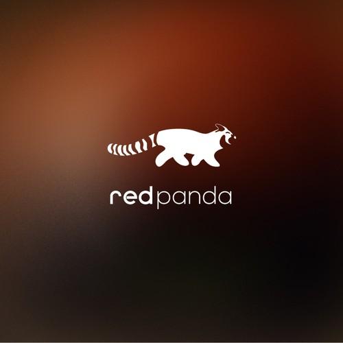 "Minimal negative Logo for ""redpanda.earth"""
