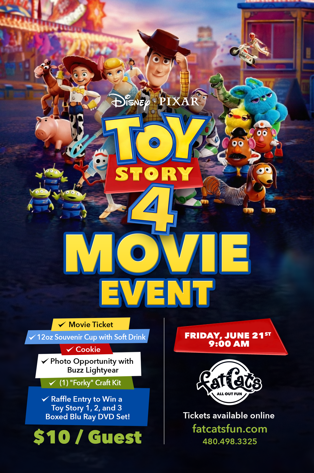 Toy Story 4 Movie Event Poster With Forky